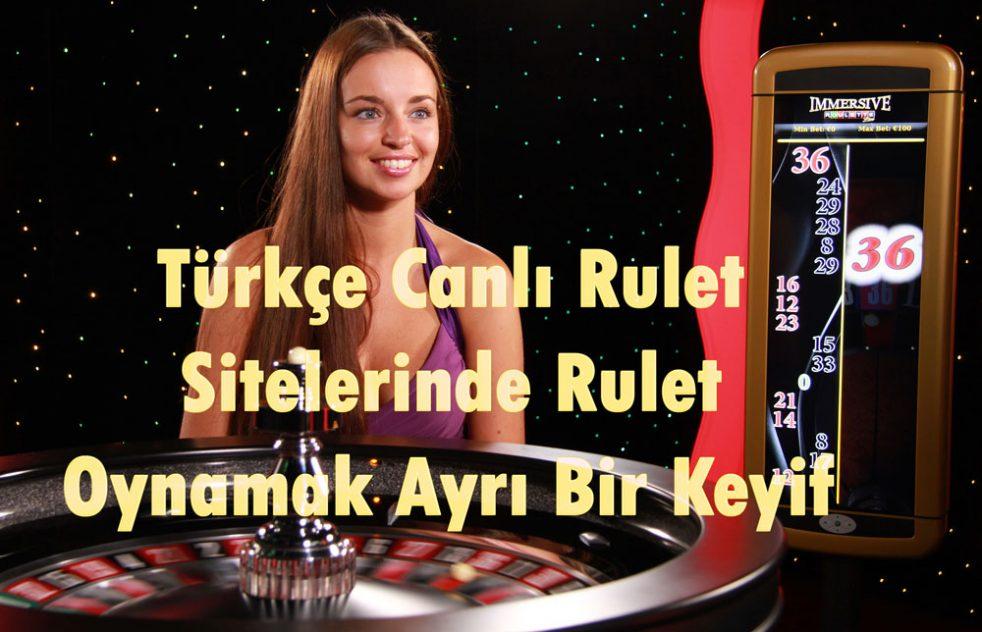 Rulet, Canlı Rulet, Türkçe Canlı Rulet, Canlı Rulet Siteleri, Rulet Bonusları, Rulet Oyna, Canlı Rulet Oyna